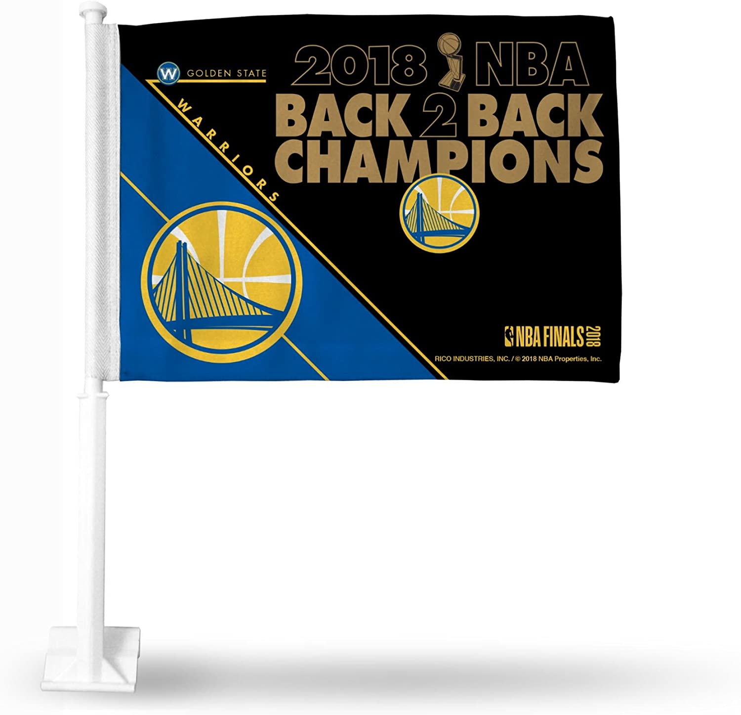 Golden State Warriors 2018 Champions Plastic Frame License Plate Tag Cover Basketball Inc Rico Industries