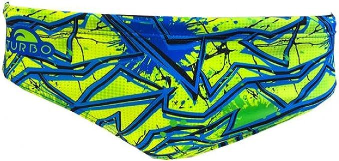 Turbo Ba/ñador Swimming Crystal Gris//Negro Slip de Competicion Nataci/ón y Triatlon