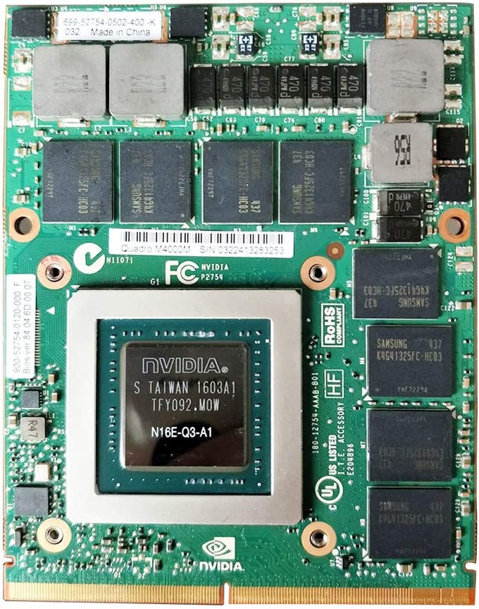 New 4GB Graphics Video Card GPU Upgrade Replacement, for Dell Precision M6700 M6800 7710 7720 M7720 M7710 Mobile Workstation Laptop, NVIDIA Quadro M4000M GDDR5 MXM VGA Board Repair Parts