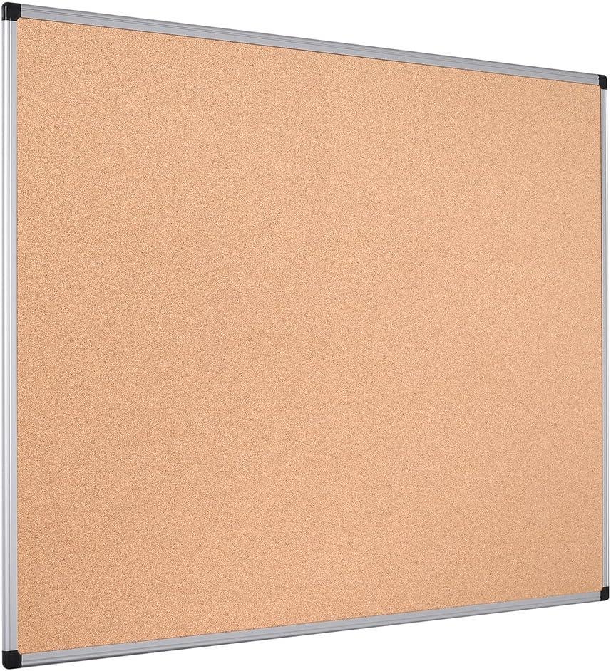 Bi-Office Maya - Tablero de corcho con marco de aluminio, 120 x 90 cm