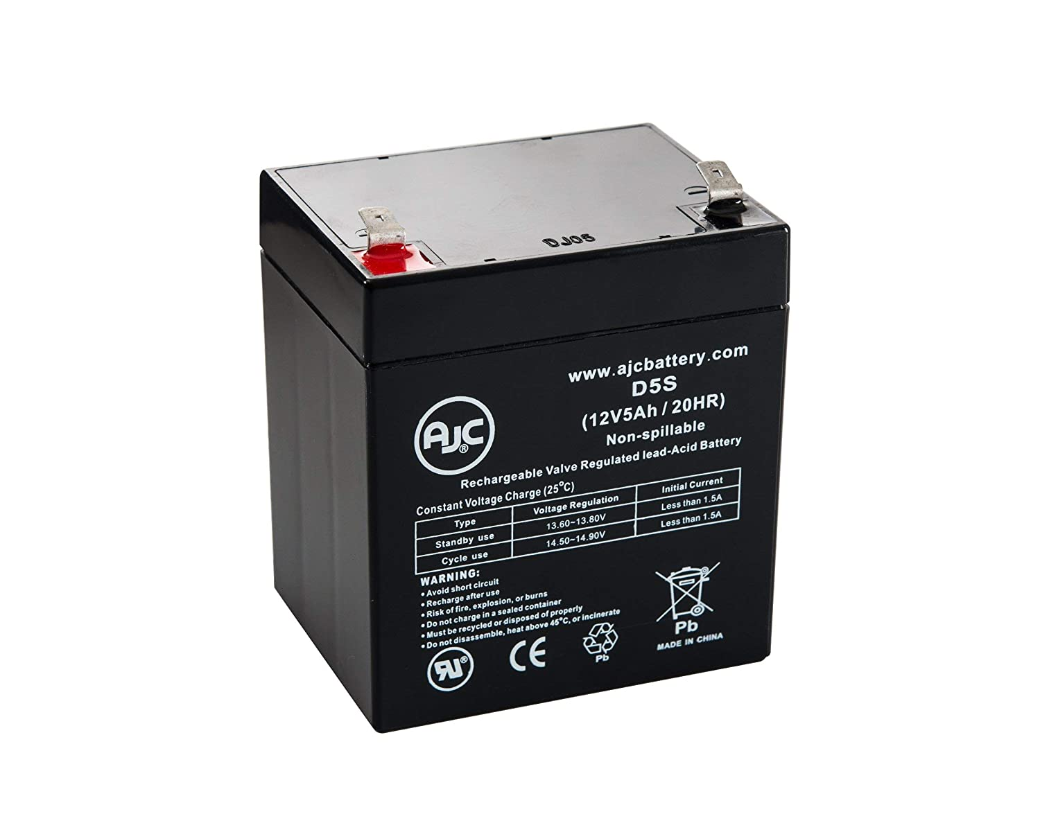 Zeus PC5-12XB 12V 5Ah Sealed Lead Acid Battery - This is an AJC Brand Replacement AJC Battery