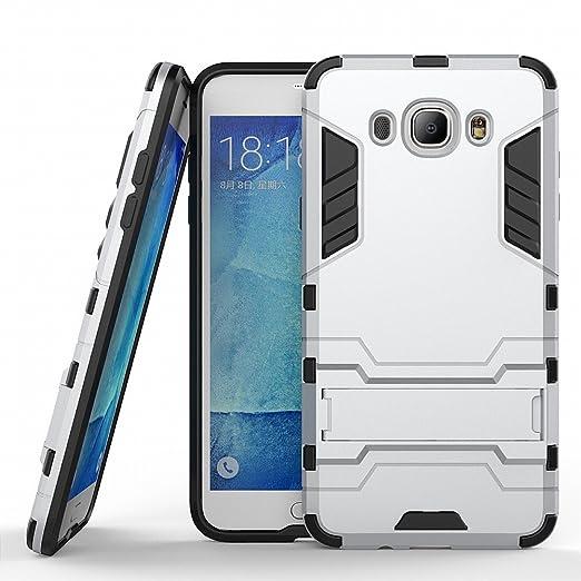23 opinioni per Galaxy J7 2016 Cover DWaybox 2 in 1 Hybrid Heavy Duty Armor Hard Cover Custodias
