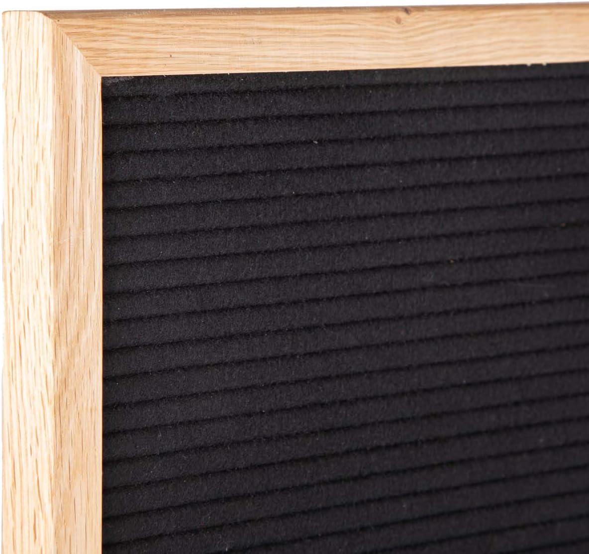 354 Golden- und Silberfarbigen Buchstaben /& Zahlen /& St/änder Schwarz//Natur LEDR Letter Board aus Holz und Filz 30 x 45 cm Buchstaben Tafel Buchstabenbrett Rillentafel Stecktafel mit 354 Wei/ße