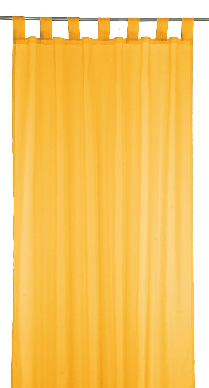 Passanti tenda tenda tenda decorativa per soggiorni - o in camera da letto UNI - 140 x 245 cm - disponibile nei colori bianco, verde, Beige e arancione - di Brand SELLER, arancione, 140 x 245 cm brandseller