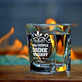 Real Couple Personalized Whiskey Glass - Set of 2
