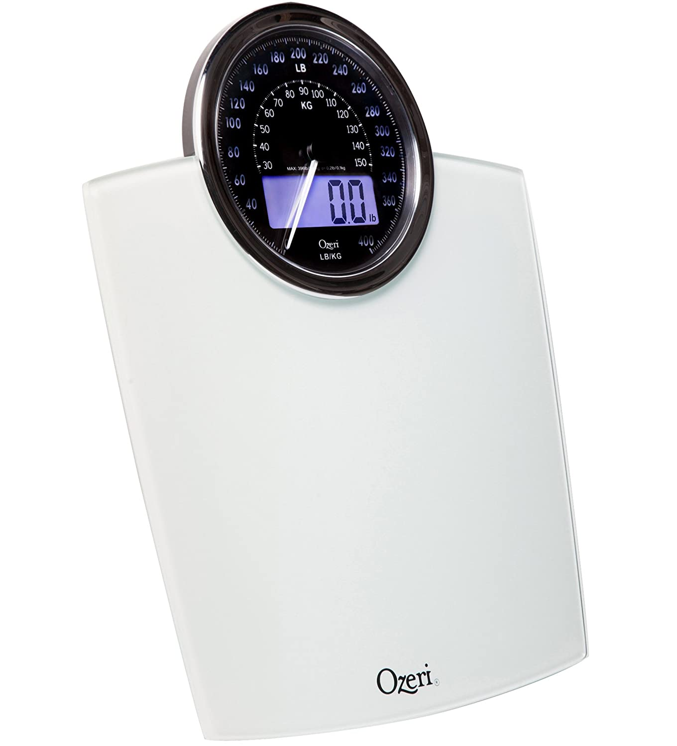 Ozeri Rev Digital Bathroom Scale With Electro Mechanical Weight Dial White Amazoncouk Health Personal Care