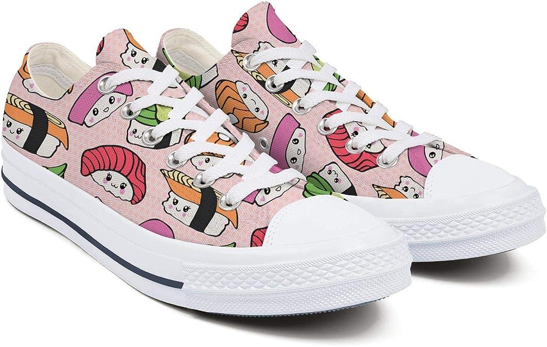 Kawaii Sushi - Zapatillas de Tenis japonesas para Mujer, Multi-Color (White-84), 40 EU: Amazon.es: Zapatos y complementos