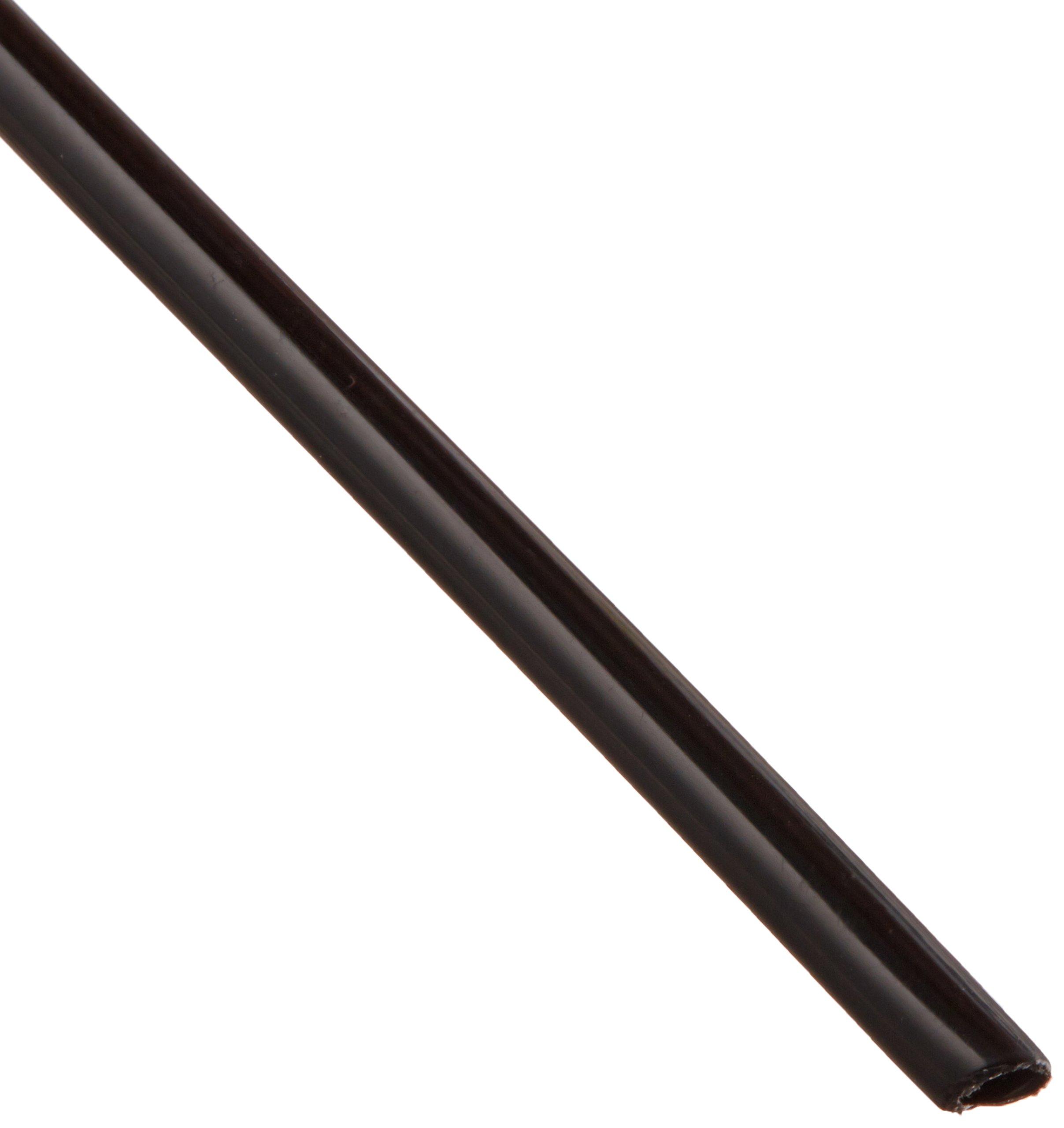 Nylon Vacuum Flexible Tubing, Black, Opaque, 0.078'' ID, 1/8'' OD, 0.024'' Wall, 50' Length