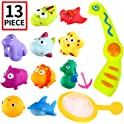 13 Pcs Punertoy Magnetic Fishing Bath Toy Game