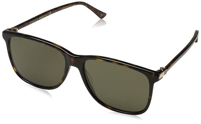 Gucci GG0017S, Gafas de Sol para Hombre, Avana-Brown, 57