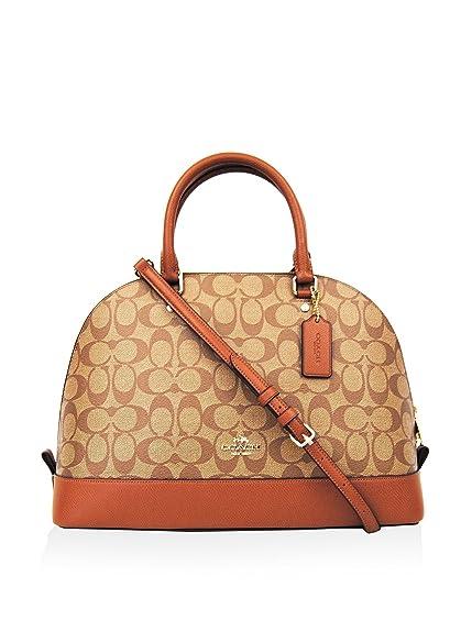 75b2a3ff Coach Women's Signature Sierra Satchel Crossbody Handbag Khaki ...