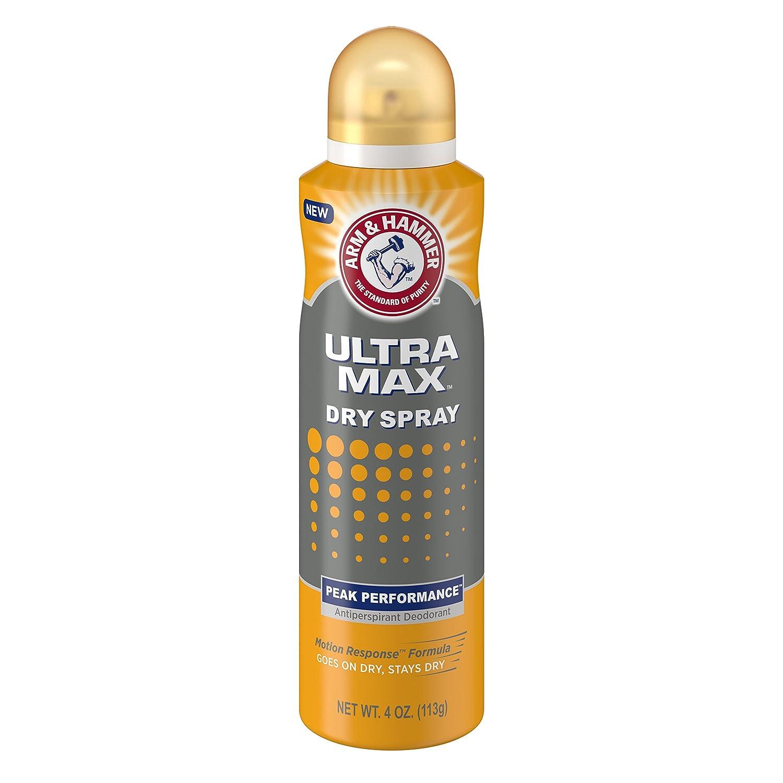 Arm & Hammer Ultra Max Dry Spray, Peak Performance, 4 Ounce
