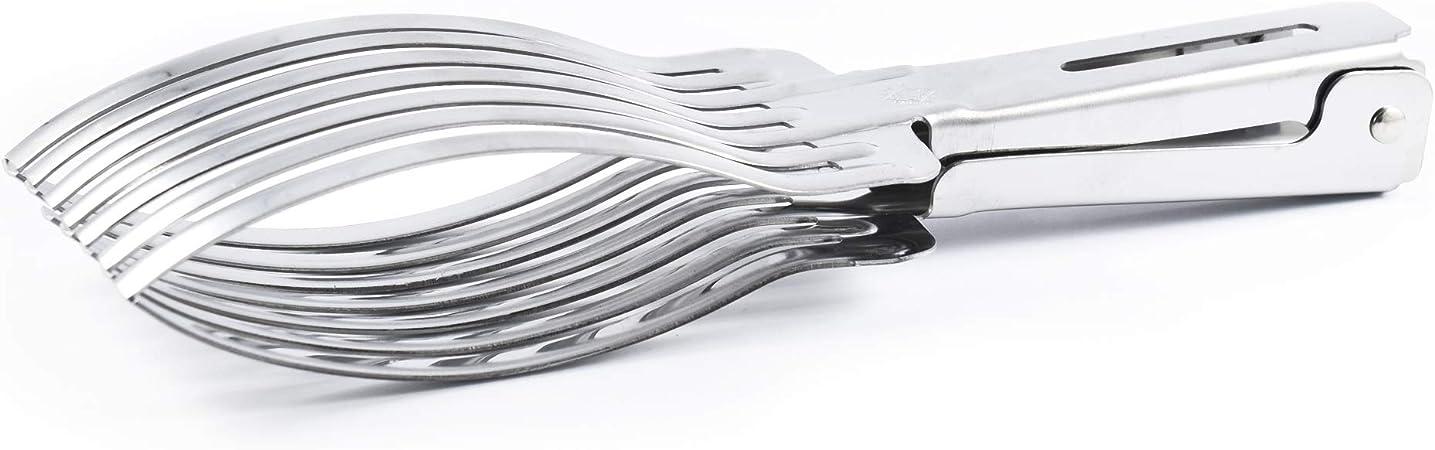 Molla Pinza Gigante acciaio inox carne 29x7x3 cm Taglia arrosto