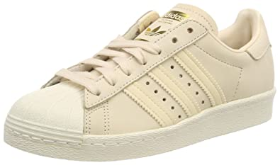 the latest 9501c 05fd8 adidas Superstar 80s W, Chaussures de Gymnastique Femme, Rose Linen Off  White,