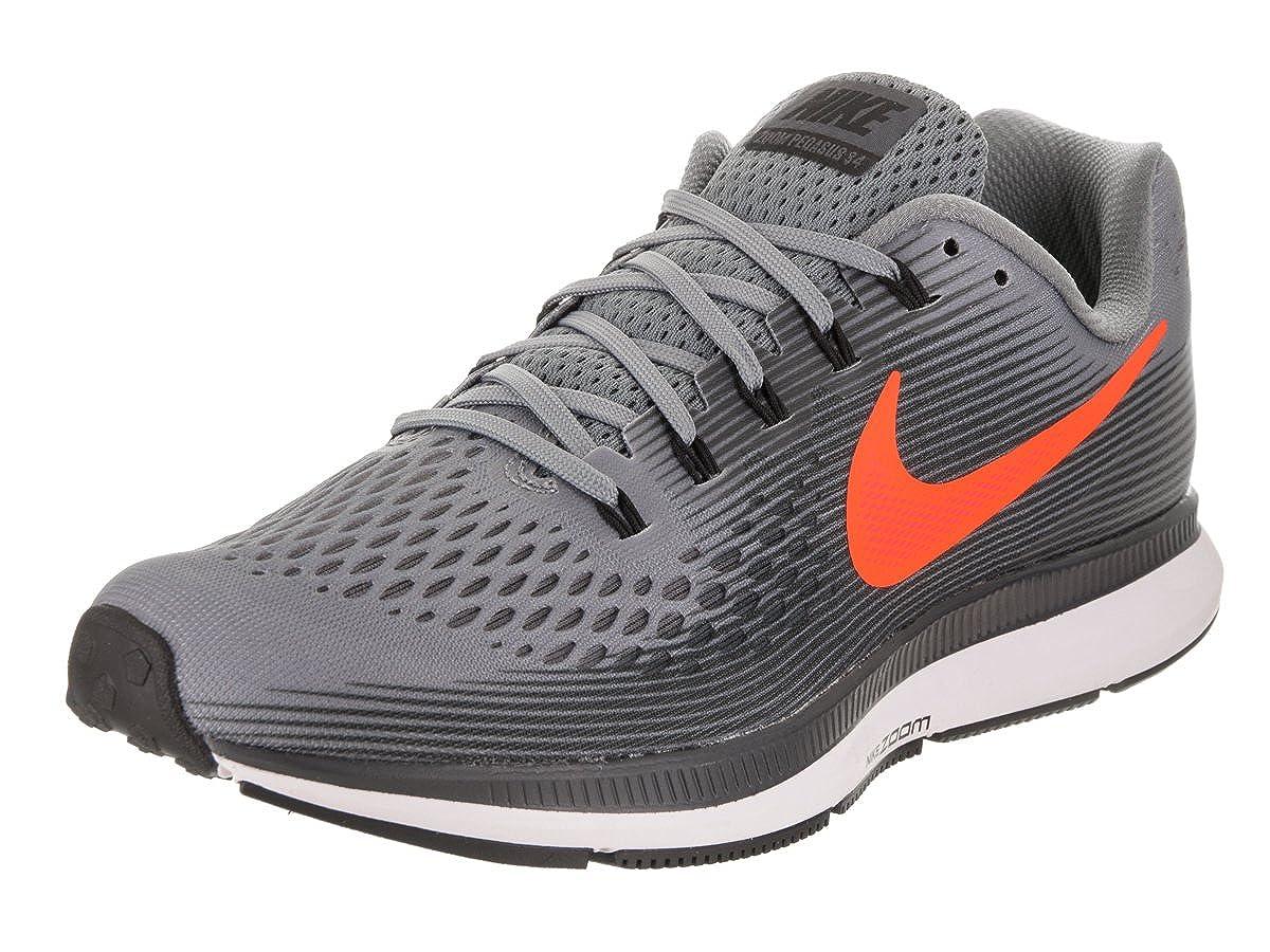 low priced 0b202 700f7 Amazon.com   Nike Men s Air Zoom Pegasus 34 Running Shoe Cool Grey  Anthracite Orange 9.5 D(M) US   Road Running
