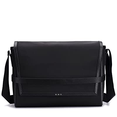 EXZ Men Business Briefcase Attache Bag Smooth Nylon 3008