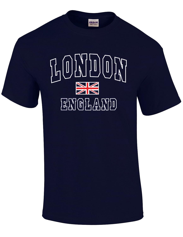 Londres Inglaterra Camiseta, Camiseta de Manga Corta de algodón T-Shirt - Unisex: Amazon.es: Ropa y accesorios