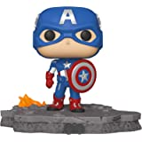 Funko Pop! Deluxe, Marvel: Avengers Assemble Series - Captain America, Amazon Exclusive, Figure 6 of 6