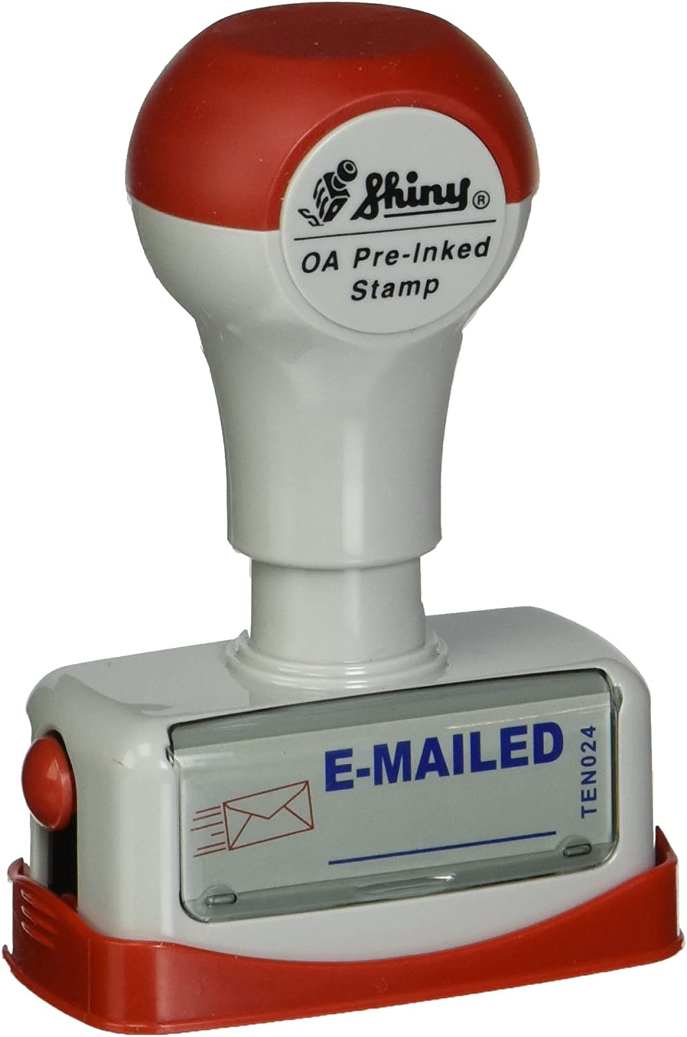 """Shiny Title Stamp - """"e-Mailed"""", Two Color (TEN024)"""