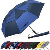 G4Free 62 Inch Draagbare Golfparaplu Extra Grote Oversize Opvouwbare Paraplu Automatische Open Dubbele Geventileerde…