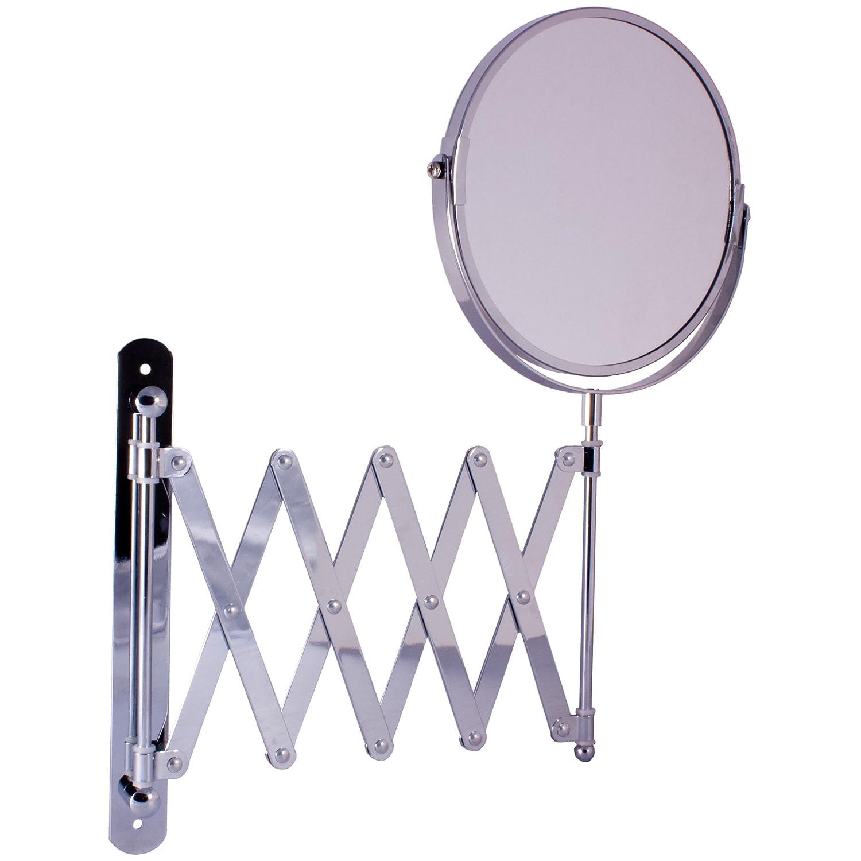 Ampliaci/ón de la pared espejo redondo cromado 3/x Plus aumentos afeitado espejo montado en la pared 16/cm