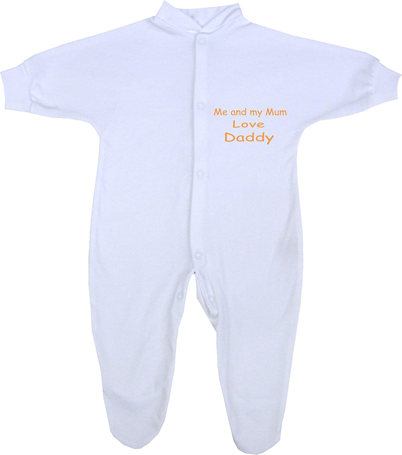 Me and my Mum Love Daddy Baby Sleepsuit Babygro Newborn 12 months