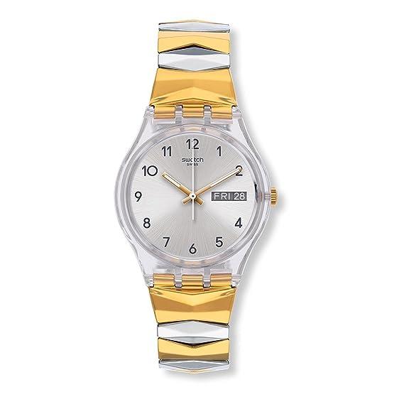 Swatch Reloj Digital para Mujer de Cuarzo con Correa en Acero Inoxidable GE707B: Amazon.es: Relojes