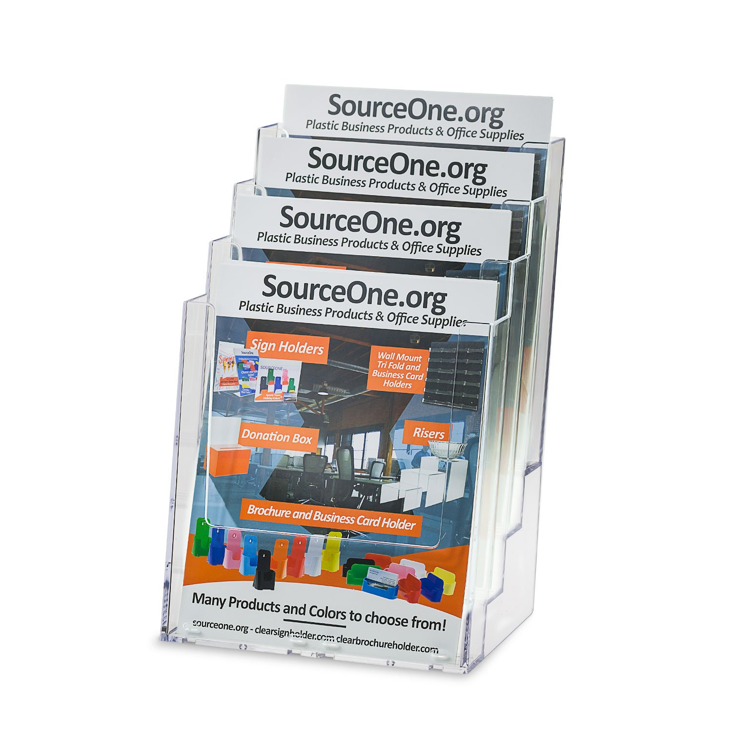 Amazon.com : Source One Deluxe 4-Tier Large Brochure Holder and ...