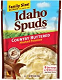 Idaho Spuds Family Size, Country Buttered Mashed Potatoes, 6 Count