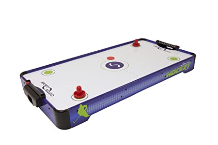 Review Sport Squad HX40 40-Inch Electric Tabletop Air Hockey Table with 2 Pushers and 2 Pucks