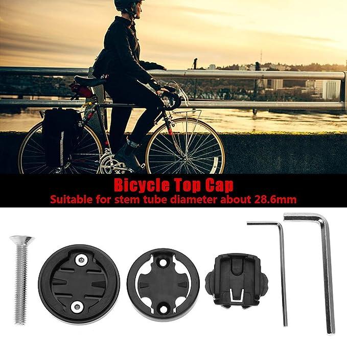 Alomejor - Juego de tapacubos para Bicicleta, Tapa Superior para Ordenador, Soporte para Reloj, para Garmin/Bryton/Cateye, Negro: Amazon.es: Deportes y aire ...