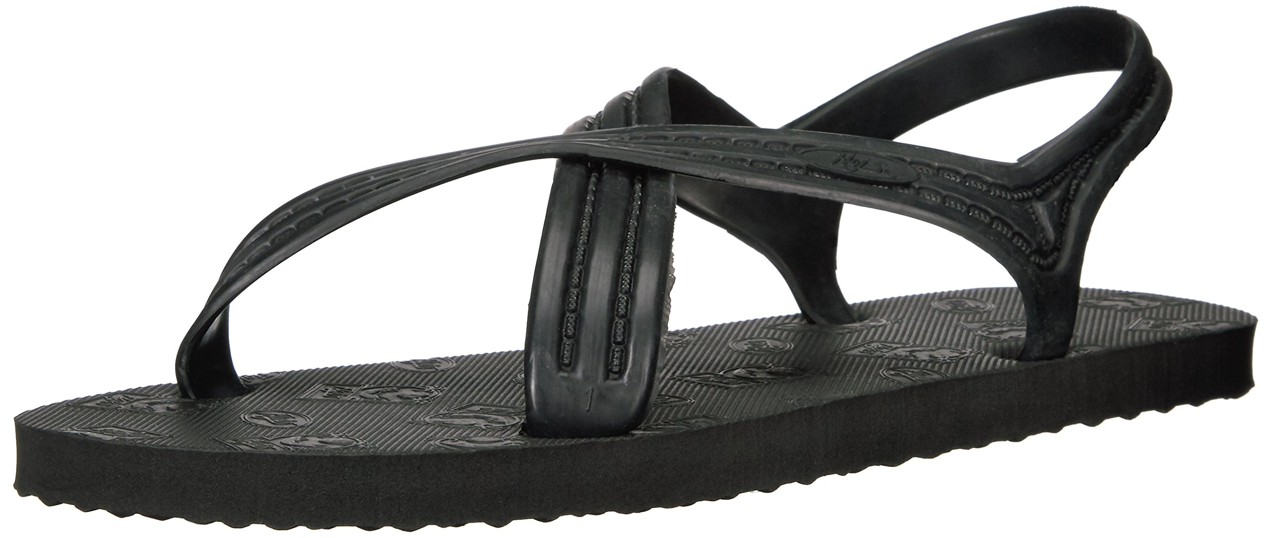 Flojos Men's 101 Flip Flop, Black, 13 M US