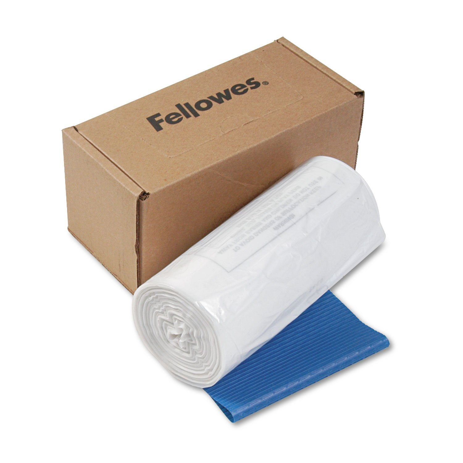 Fellowes Waste Bags for 125 / 225 / 2250 Series Shredders - 20 gal - 36quot; x 18quot; x 13quot; - 50/Carton - Clear