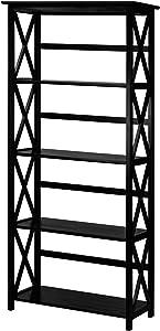 Casual Home Montego 5-Shelf Bookcase, Black (New)