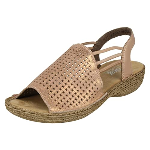 b81958ea100f6 Rieker Ladies Casual Sandals 65845-31 - Rosa Leather - UK Size 5 - EU