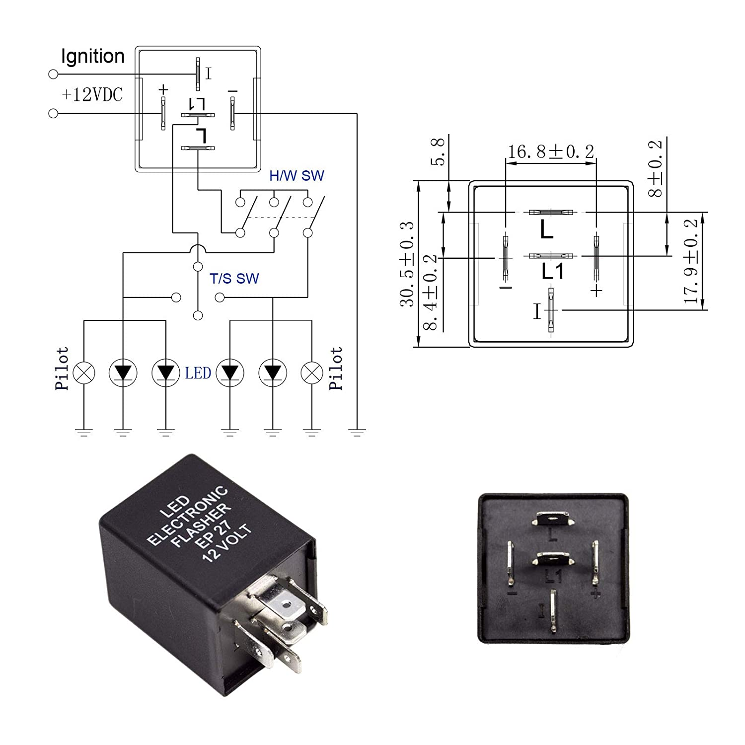Electronic Flasher Relay Wiring Diagram