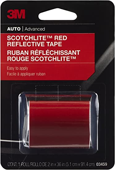 Amazon.com: 9.8 foot Scotchlite cinta reflectante rojo 2 ...