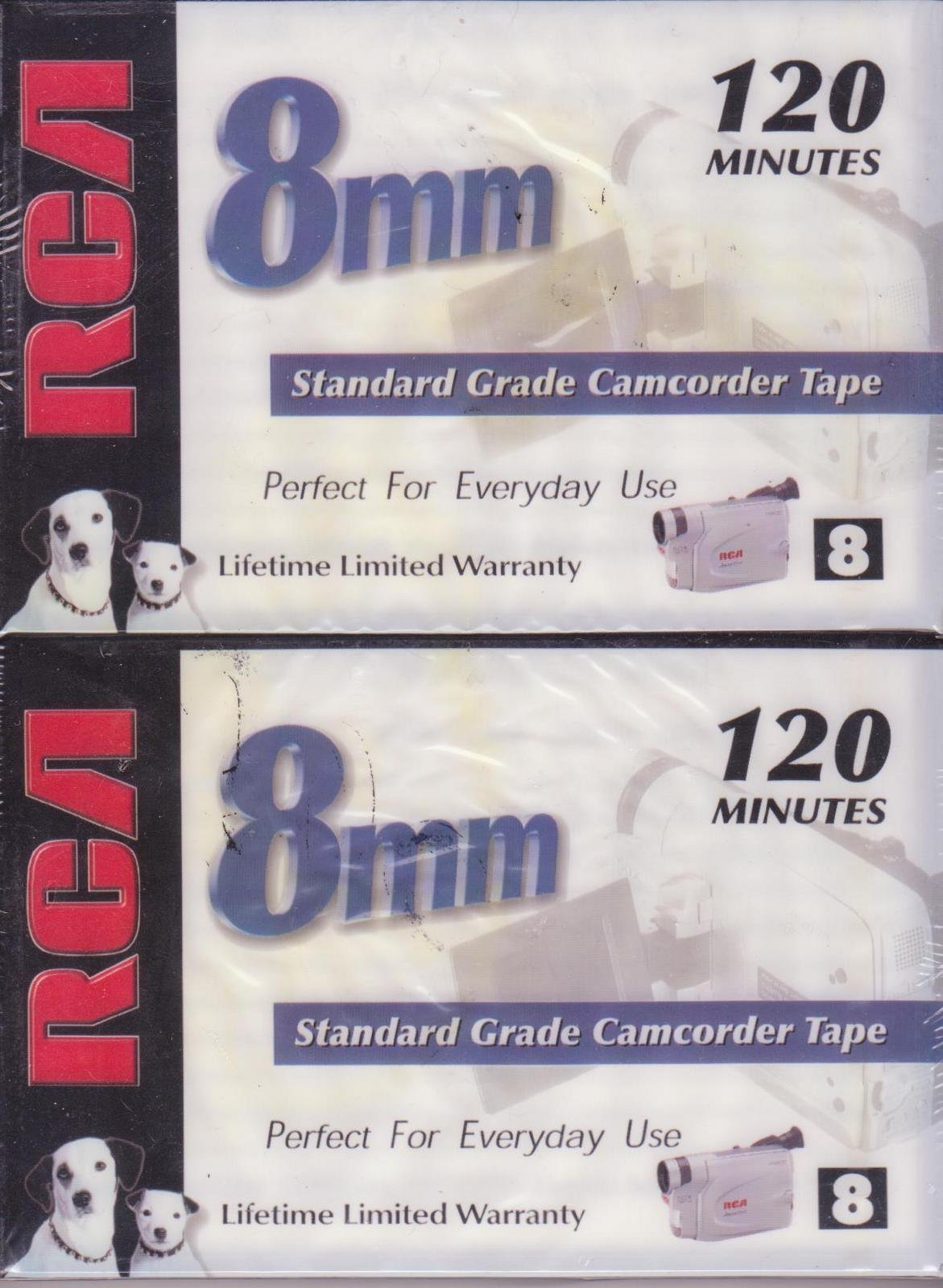 RCA 8mm Standard Grade Camcorder Tape 120 Minutes 2 Pack P6120PK2 by RCA