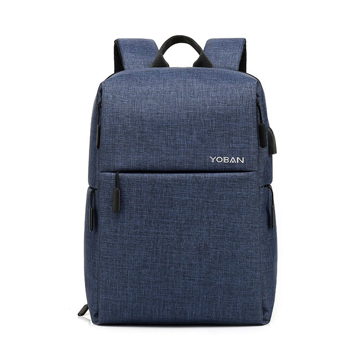 blueee Travel Laptop Backpack for School Trip Travel Men's Casual Business Backpack with USB Charging Port Waterproof Suitable for 14 Inches Laptop