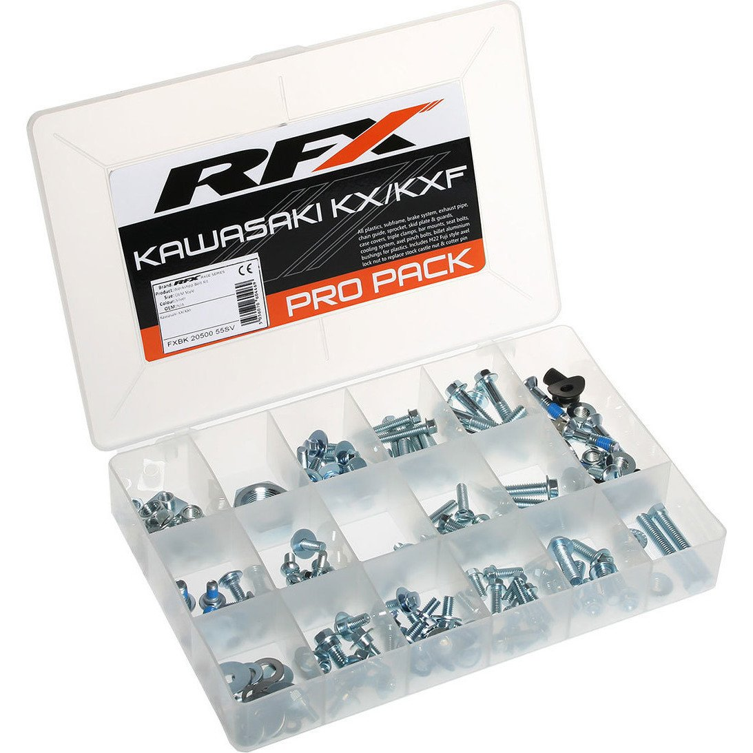 Rfx Fxbk 20500 55SV workshop Bolt kit OEM Style per Kawasaki KX/Kxf FXBK 20500 55SV