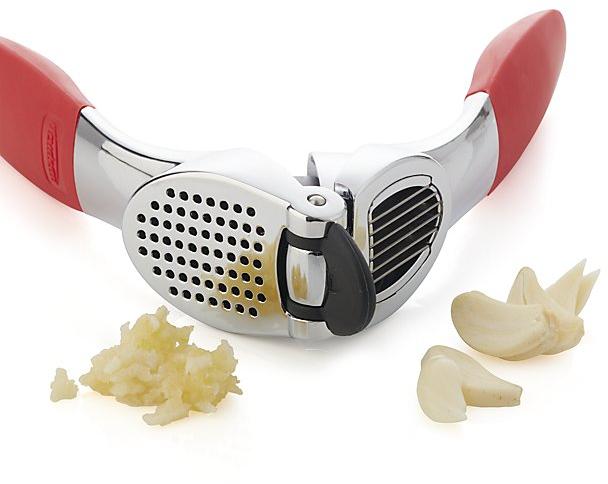 Red Garlic Press & Slice | Crate and Barrel
