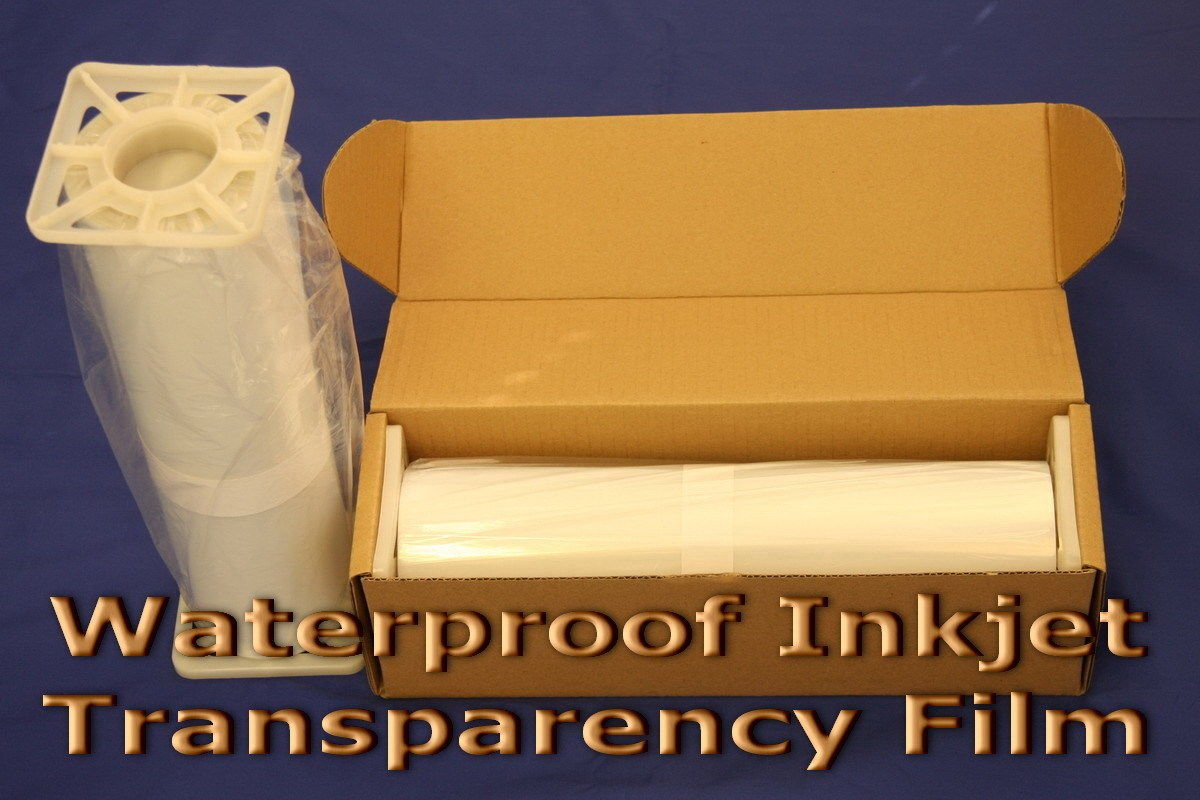 Waterproof Inkjet Transparency Film for Silk Screen 17'' x 100' - 1 Roll