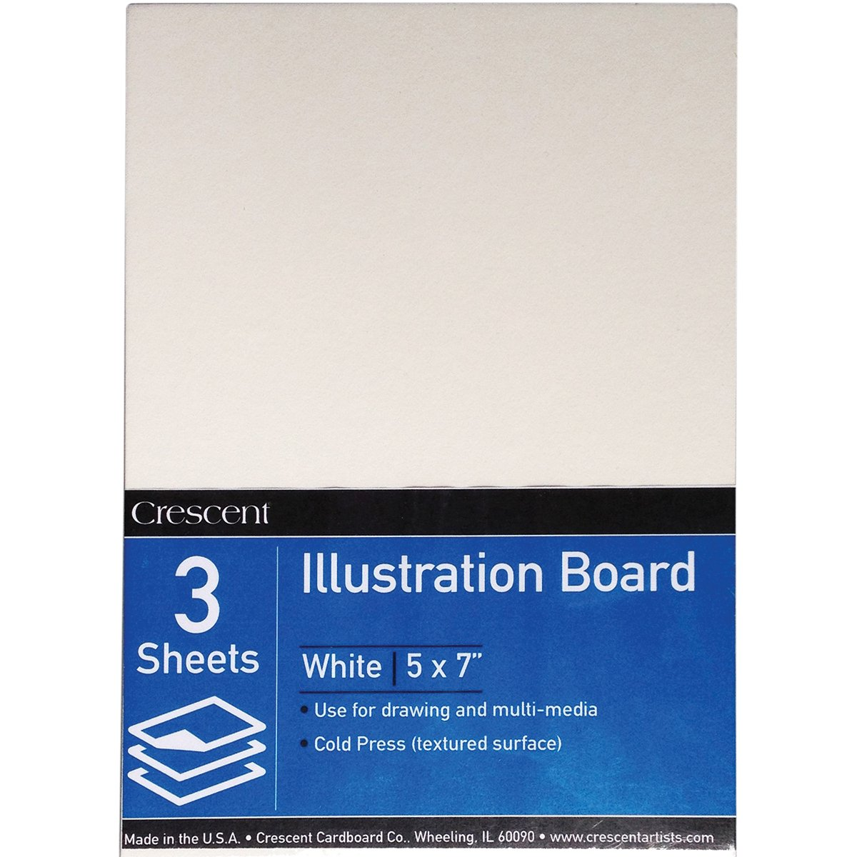 5 X 7 Crescent Creative Products VP99-0507 3 Count #99 Value Pack Illustration Board