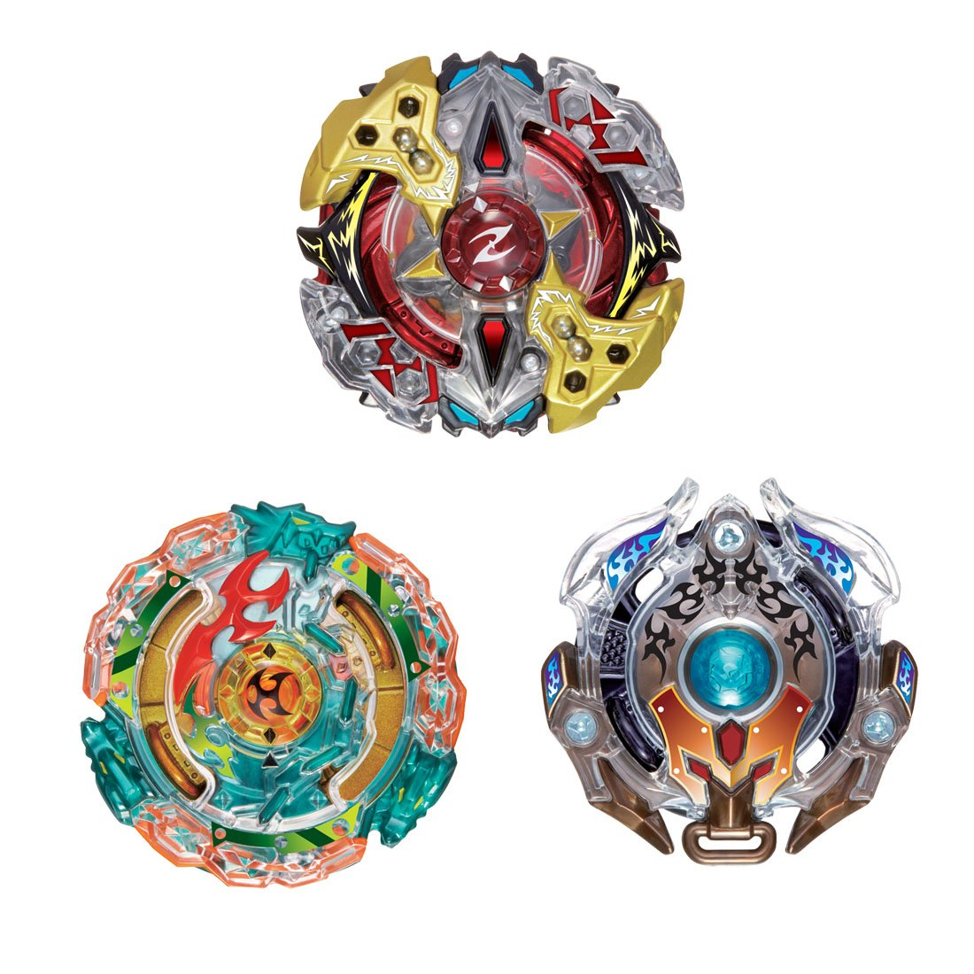 Takara Tomy B 90 Beyblade Burst 3On3 Stamina Attack Battle Booster Set Spinning Top