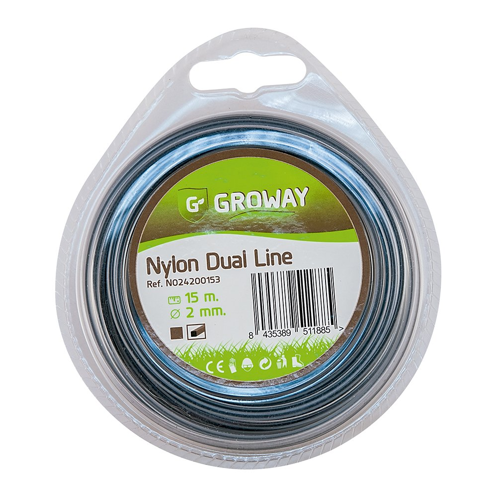 Groway Dual Line - Nylon para desbrozadora en blister, cuadrado de ...