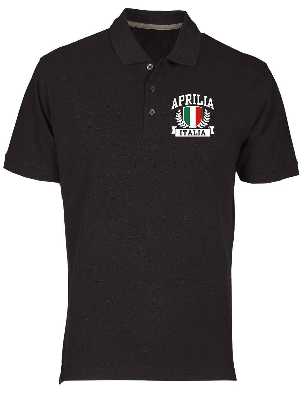 Speed Shirt Polo fur Mann Schwarz TSTEM0136 Aprilia Italia