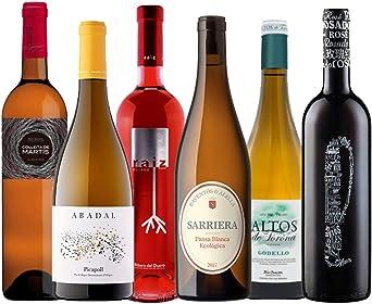 Selección de Vinos Blancos y Rosados | 4 vinos blancos y dos vinos rosados | 6 botellas de vino 75 ml. | Vinos Españoles: Amazon.es: Alimentación y bebidas