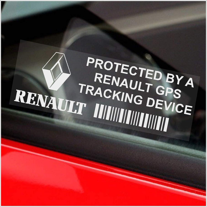 Scenic Clio Twingo Laguna pour voiture 87 x 30 mm Espace Megane Van alarme Tracker 5 x RENAULT dispositif de rep/érage GPS de fenetre