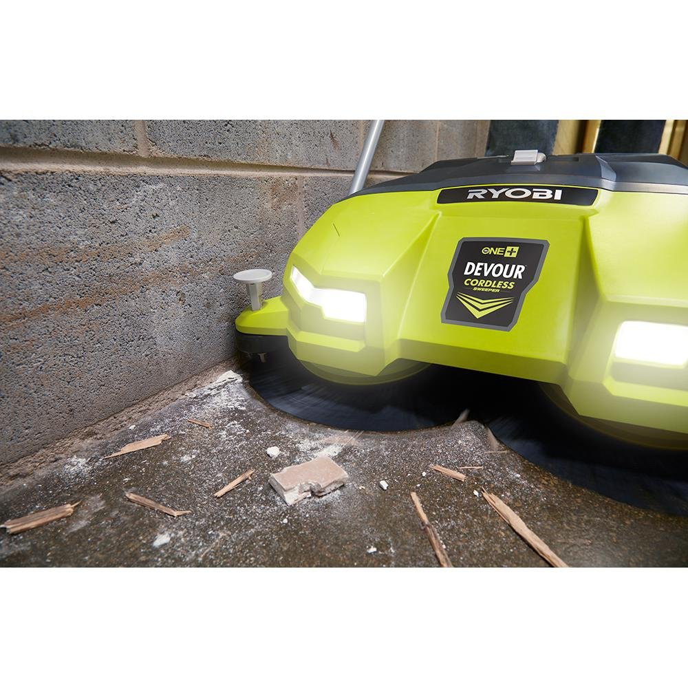 Ryobi 18-Volt 4.5 Gal. Devour Debris Sweeper (Tool-Only) P3260 and Toucan City Nitrile Dip Gloves 5-Pack by Toucan City (Image #7)