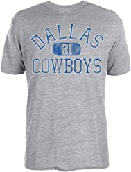 184c4bdda Ezekiel Elliott Dallas Cowboys  21 NFL Men s Rugged Player T Shirt Grey